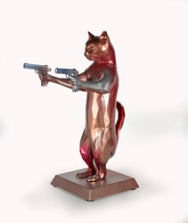 Rebel With The Paws (Bobby X) by Maxim - Original Sculpture sized 12x17 inches. Available from Whitewall Galleries